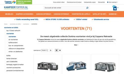 Coppens Rekreatie website