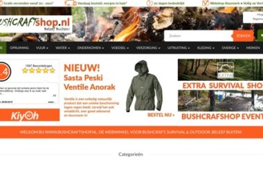 bushcraftshop.nl website