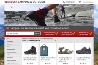 veneer camping & outdoor website
