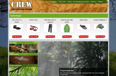website crew adventure store