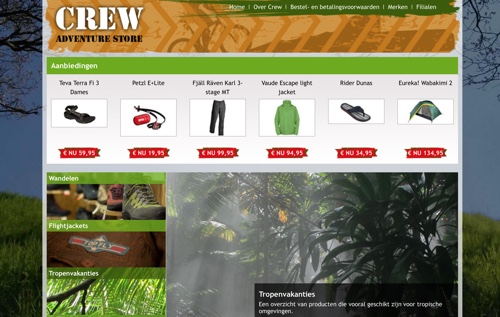 website crew adventure store
