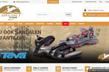 Antilope Outdoor website