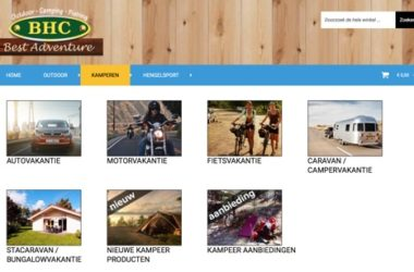 BHC Best Adventure website