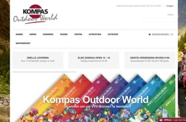 Kompas Outdoor World website