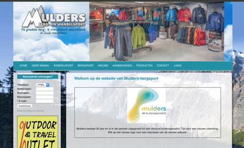 Mulders Berg- en Wandelsport website