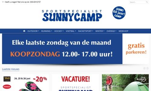 Sunny Camp website
