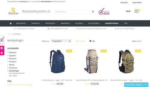 backpackspullen website