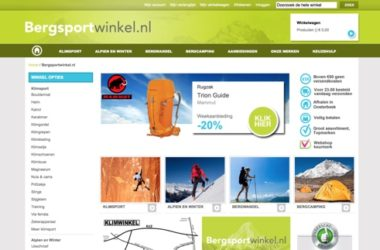 bergsportwinkel.nl website