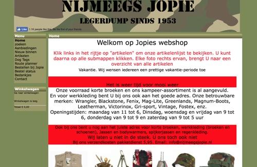 website nijmeegs jopie