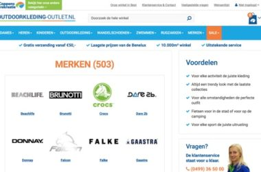 website outdoorkleding-outlet-nl