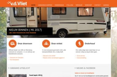 website van der vliet recreatie