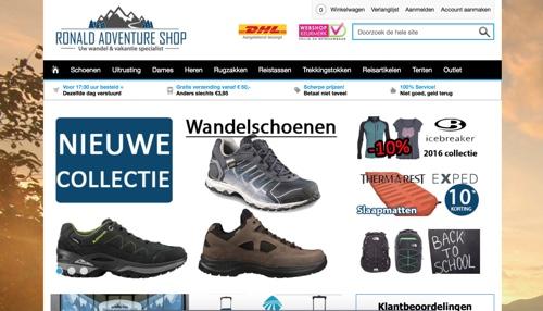 Ronald Adventure Shop website