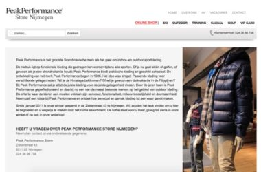 peak performance nijmegen website