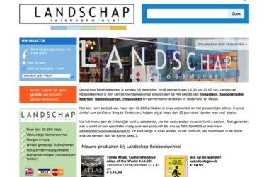 landschap reisboekwinkel website