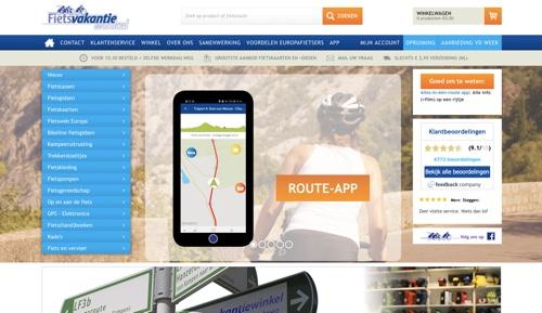 fietsvakantiewinkel website