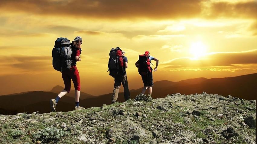 wandelgroep op een actieve vakantie
