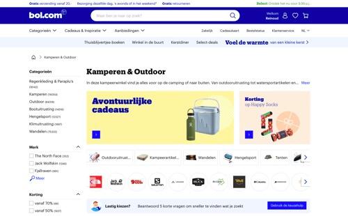 bol.com outdoor en kamperen